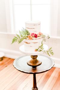 Fresh Flowers and Wedding Cake